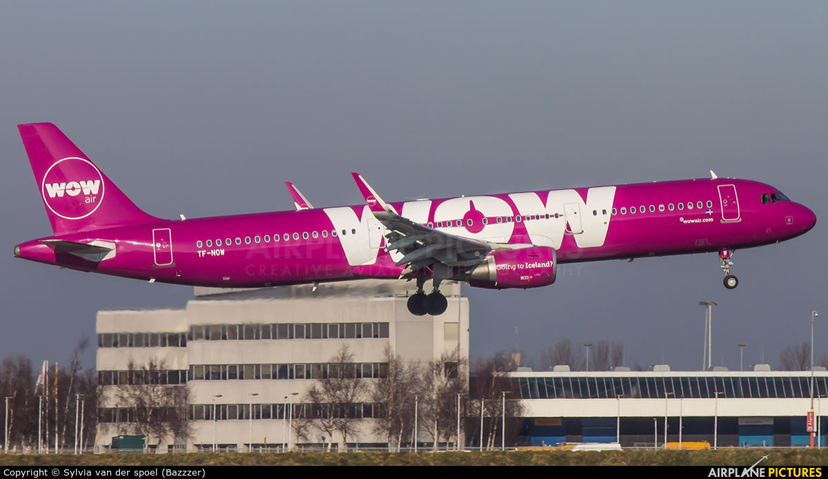 WOW Air TF-NOW aircraft at Amsterdam - Schiphol