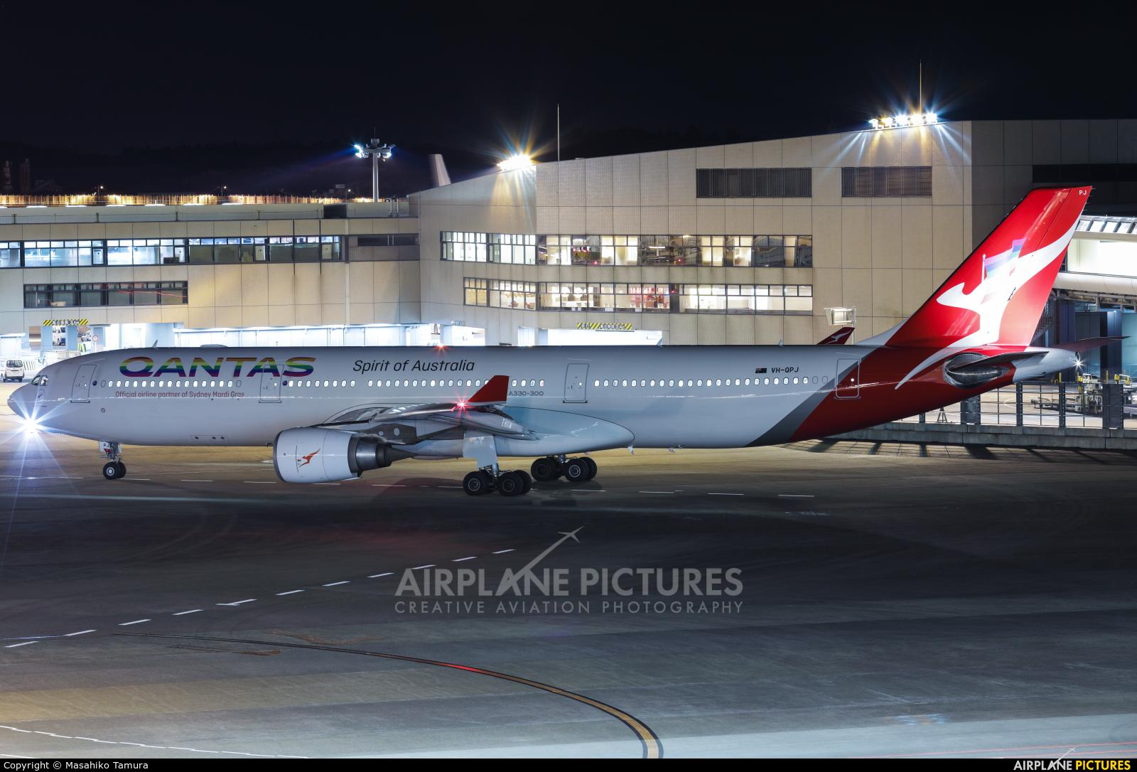 QANTAS VH-QPJ aircraft at Tokyo - Narita Intl