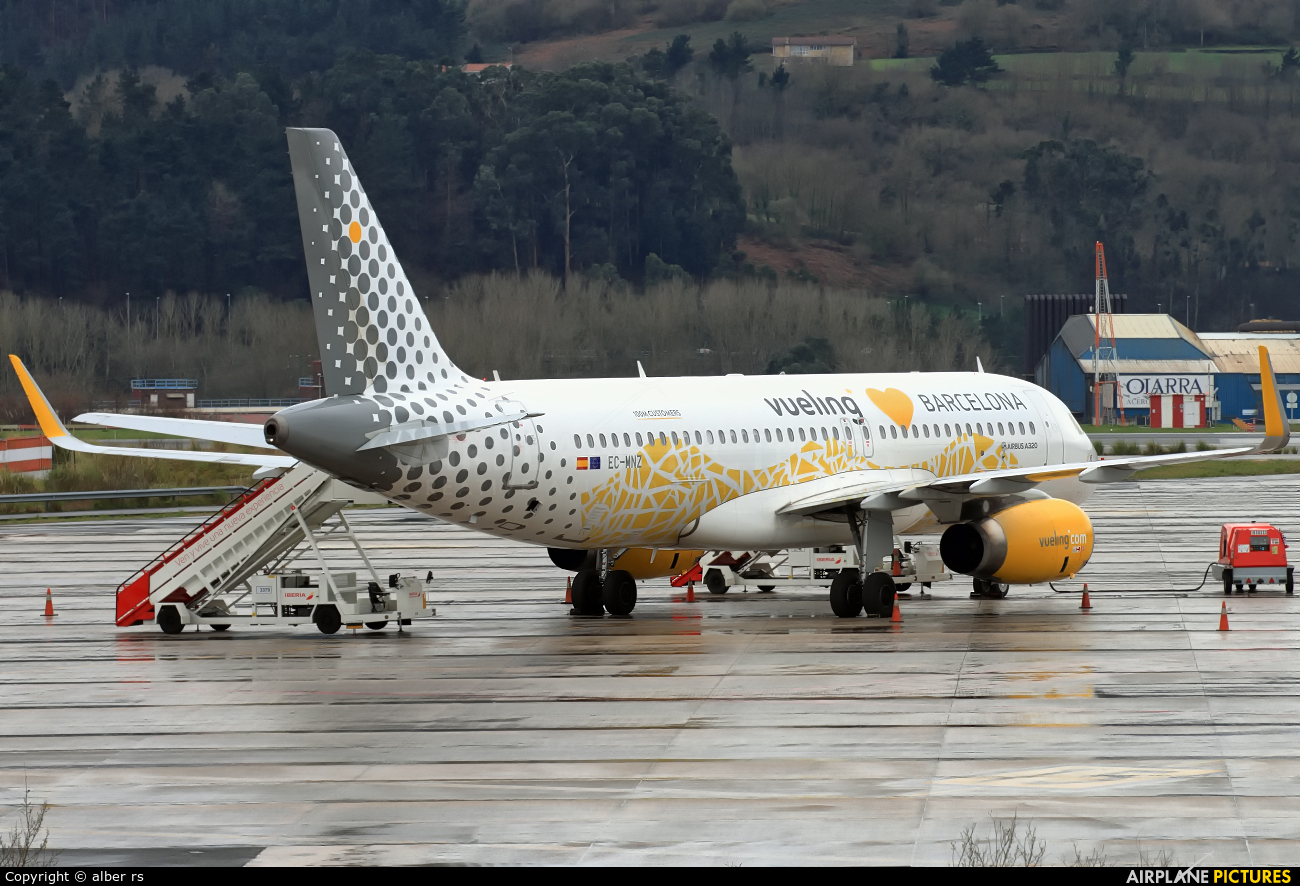 Vueling Airlines EC-MNZ aircraft at Bilbao