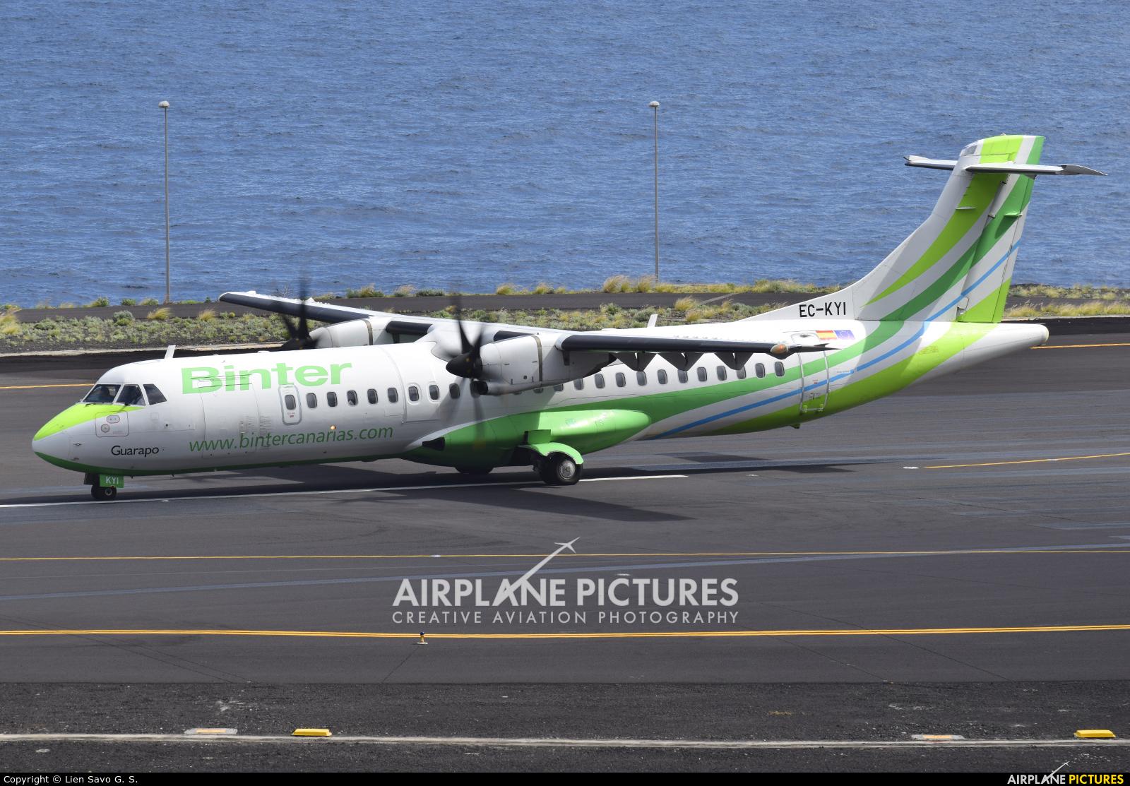 Binter Canarias EC-KYI aircraft at Santa Cruz de La Palma