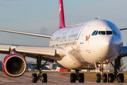 G-VNAP - Virgin Atlantic Airbus A340-600 aircraft