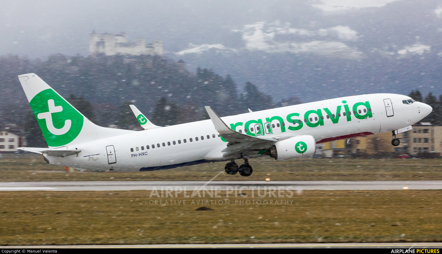 Transavia PH-HXC aircraft at Salzburg