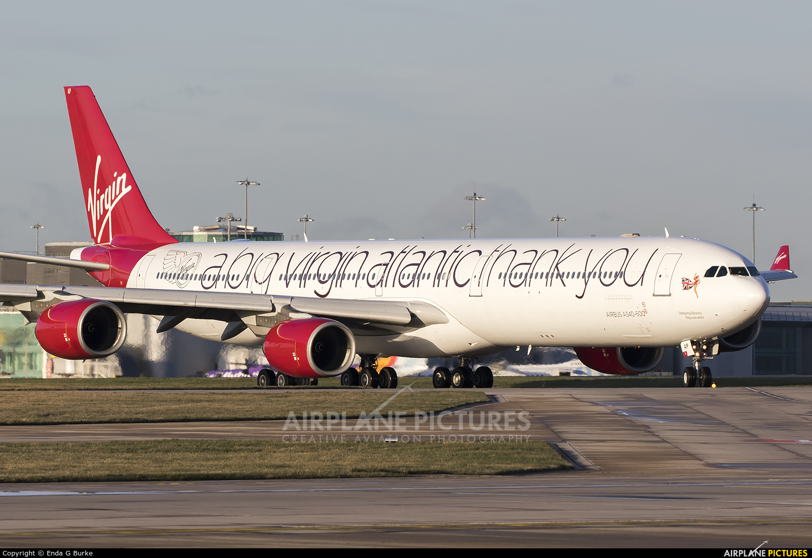Virgin Atlantic G-VNAP aircraft at Manchester