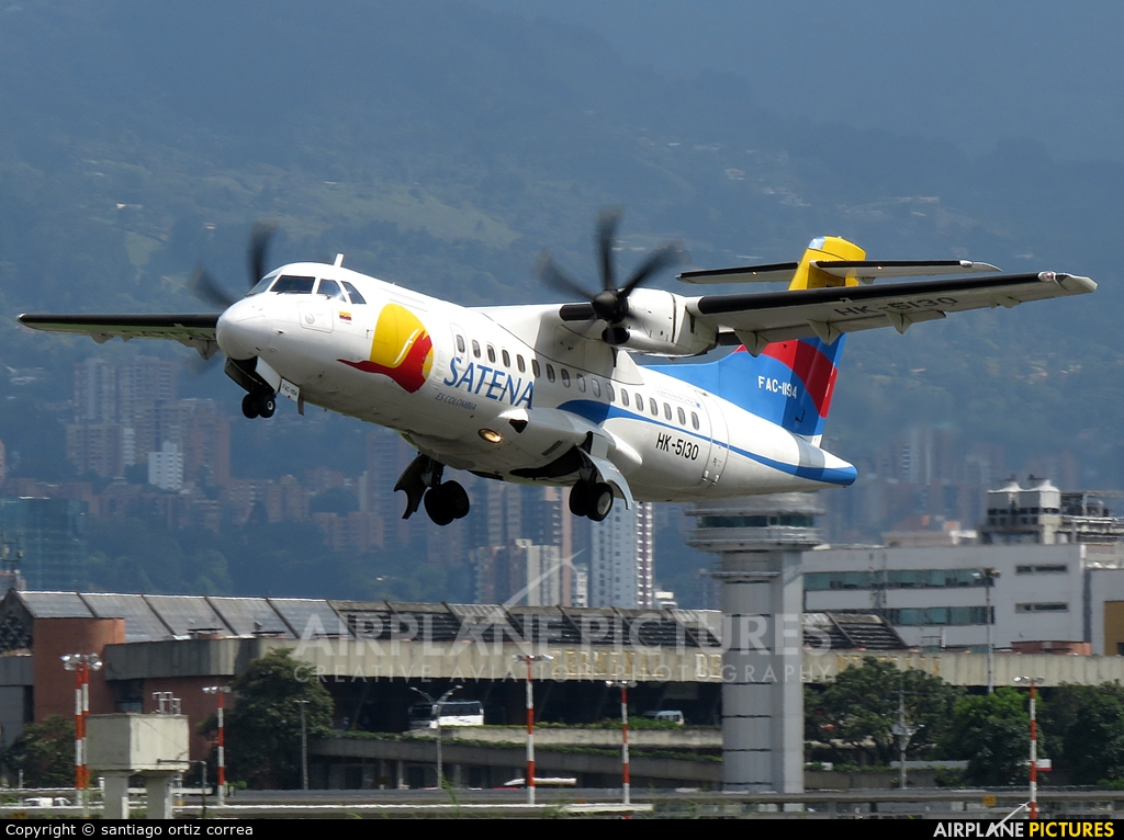 Satena HK-5130 aircraft at Medellin - Olaya Herrera