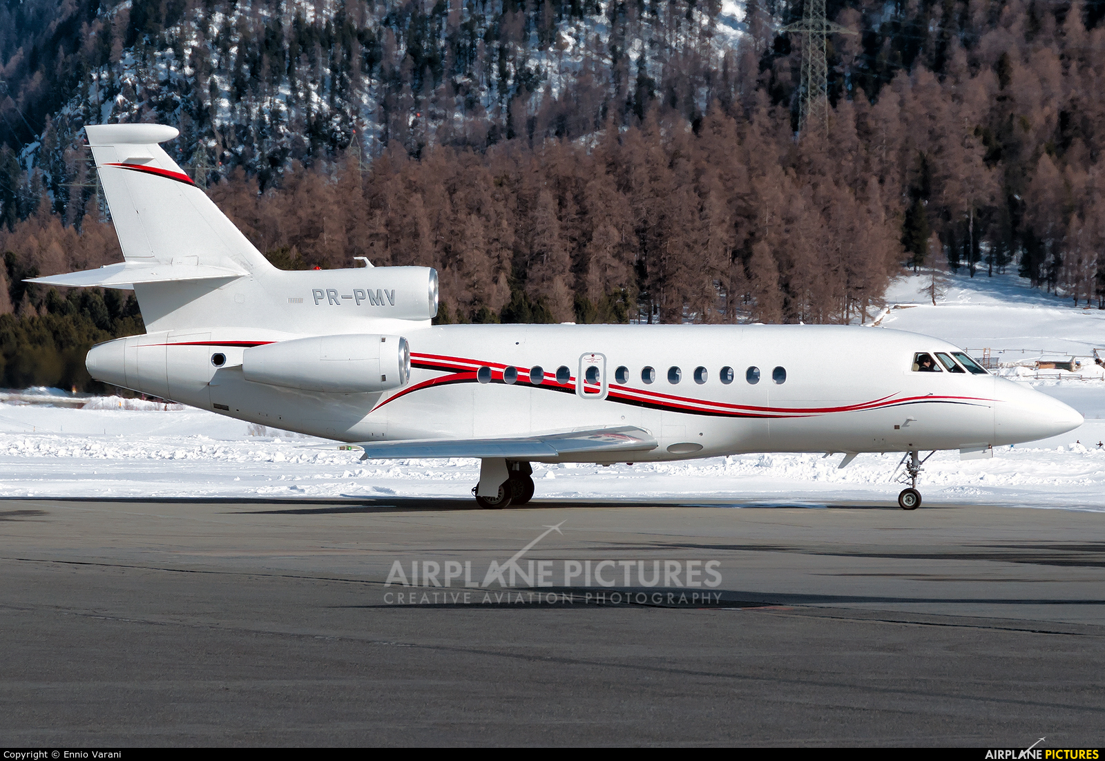 Private PR-PMV aircraft at Samedan - Engadin