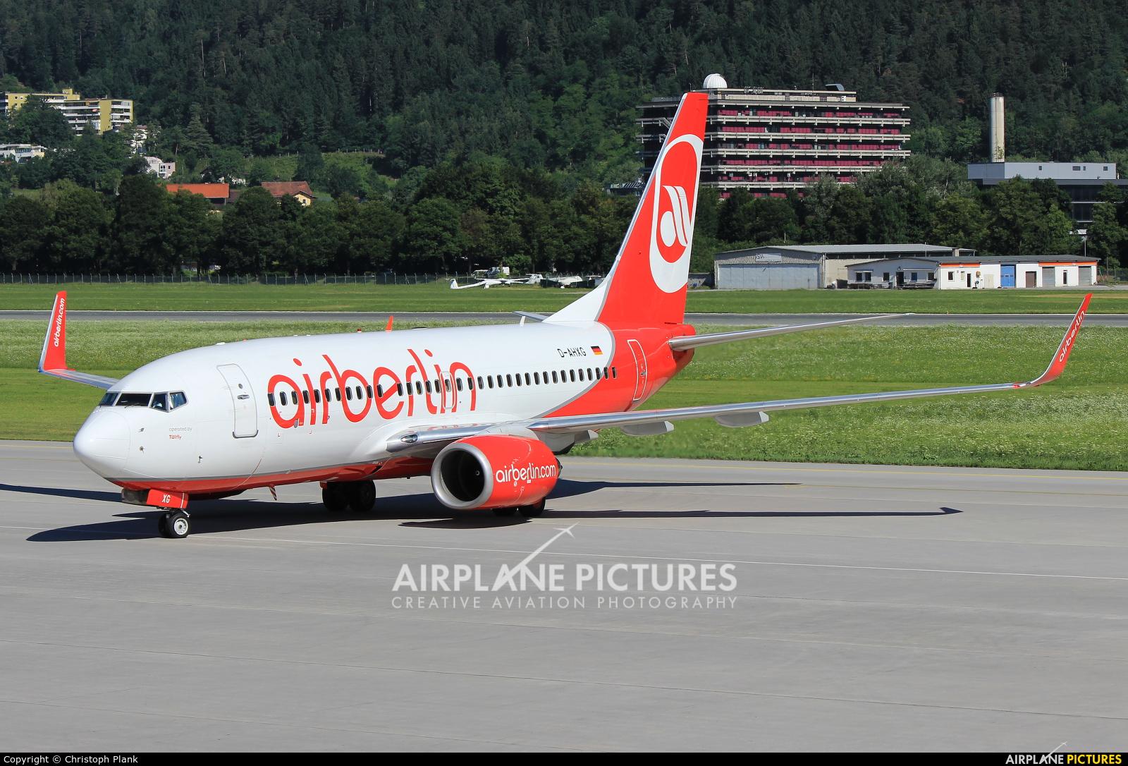 Air Berlin D-AHXG aircraft at Innsbruck