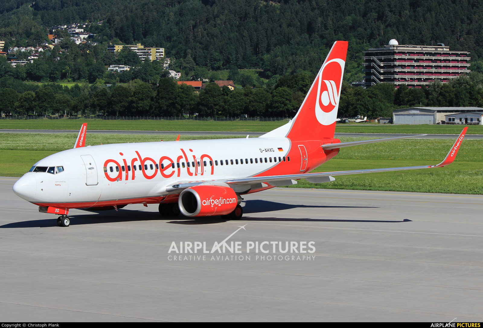 Air Berlin D-AHXG aircraft at Innsbruck
