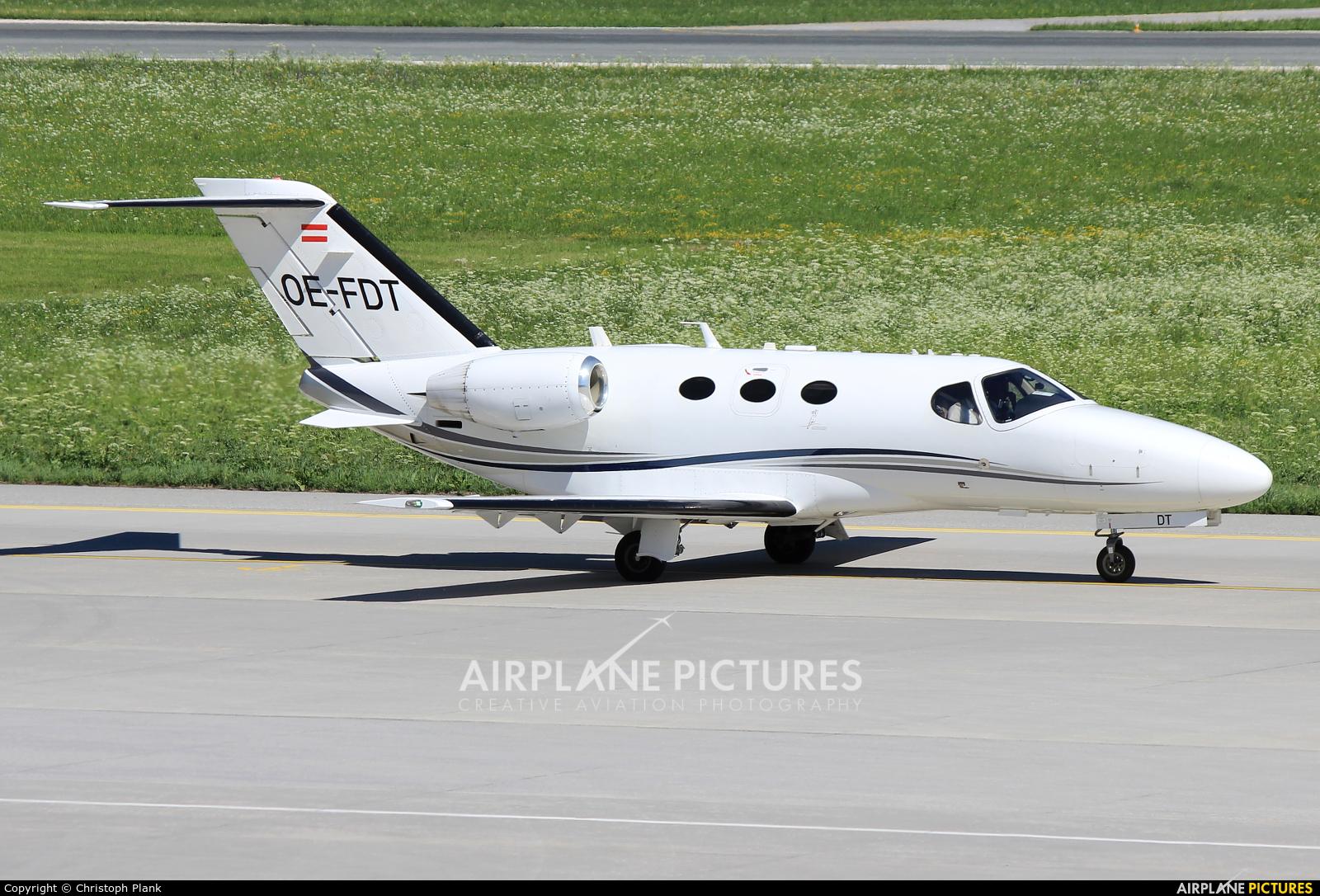 Globe Air OE-FDT aircraft at Innsbruck