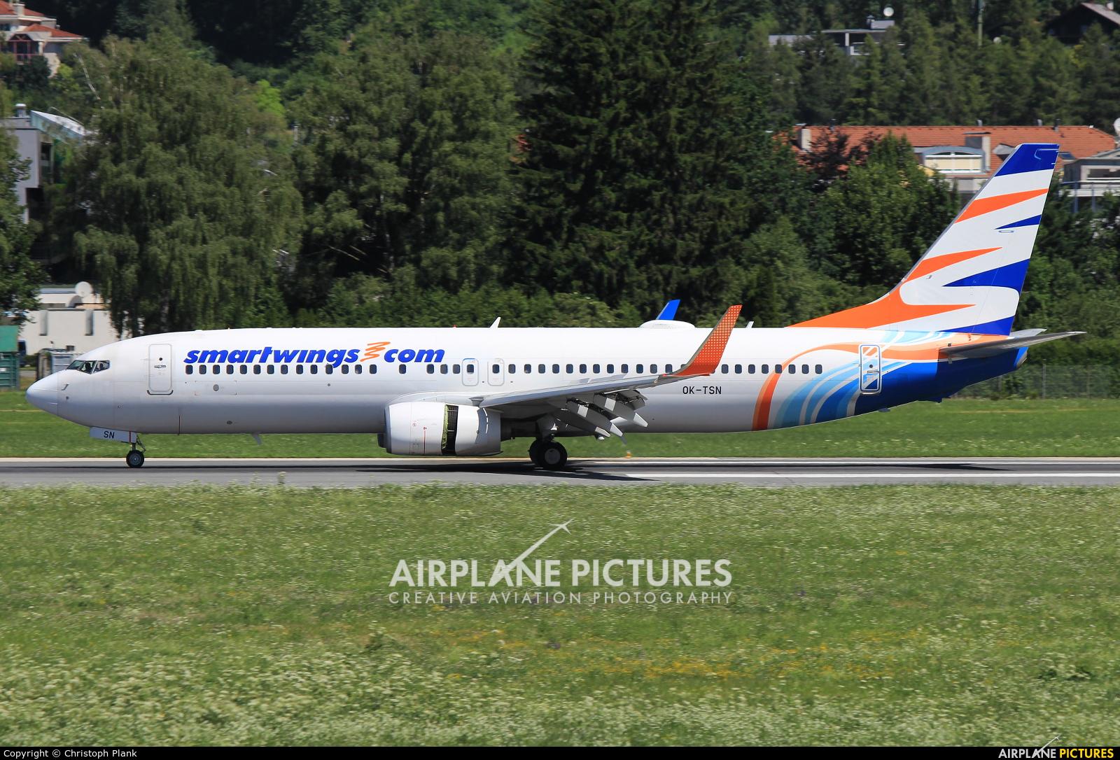SmartWings OK-TSN aircraft at Innsbruck