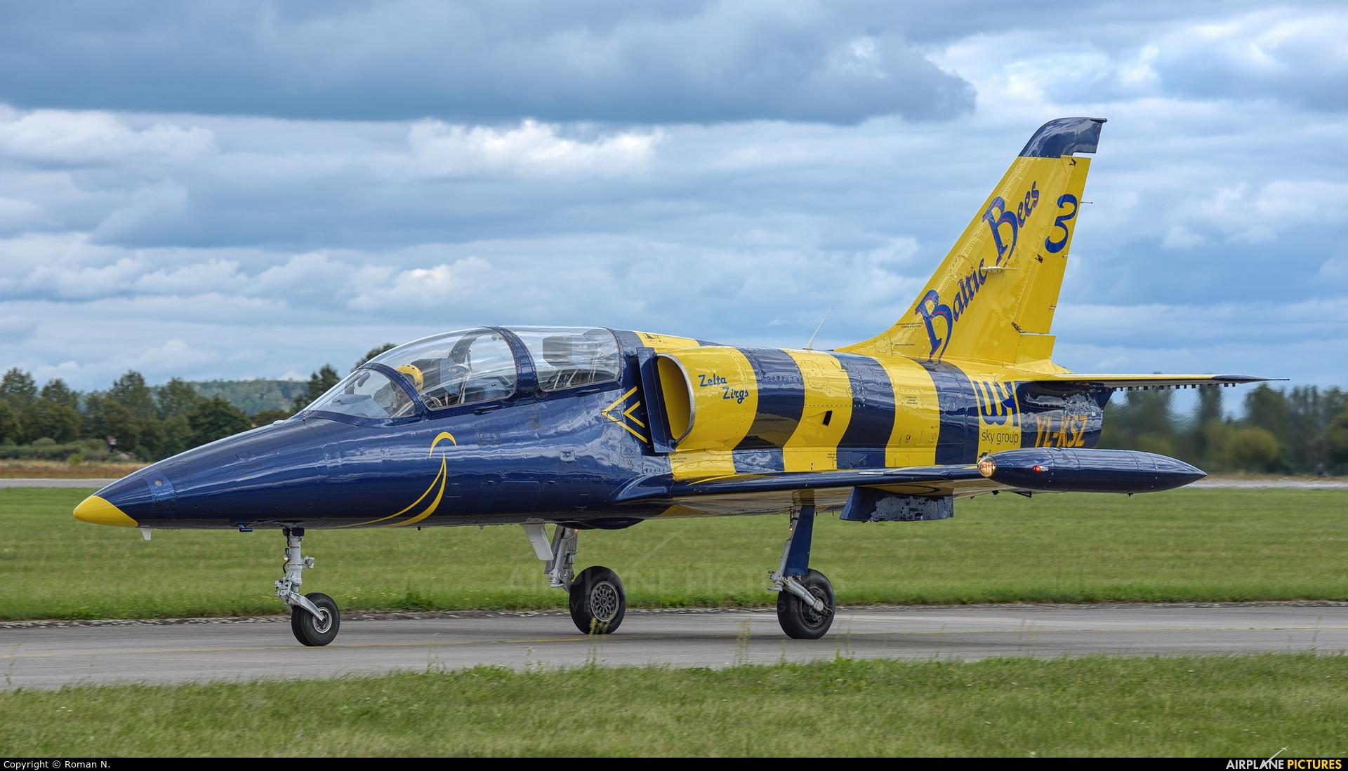 Baltic Bees Jet Team YL-KSZ aircraft at Hradec Králové