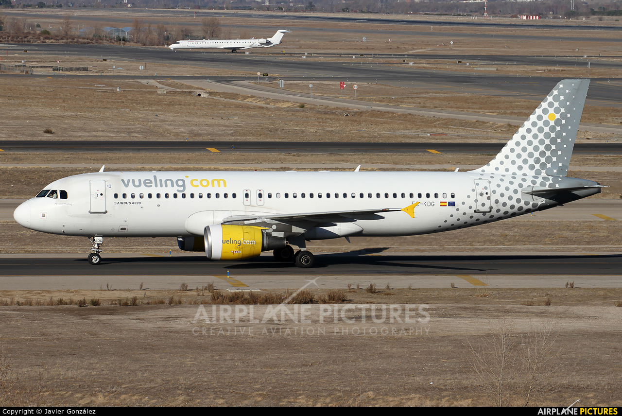 Vueling Airlines EC-KDG aircraft at Madrid - Barajas