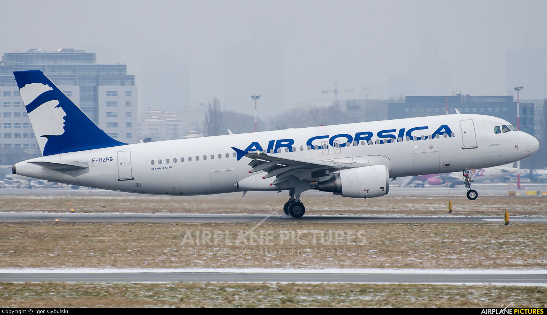Air Corsica F-HZPG aircraft at Warsaw - Frederic Chopin