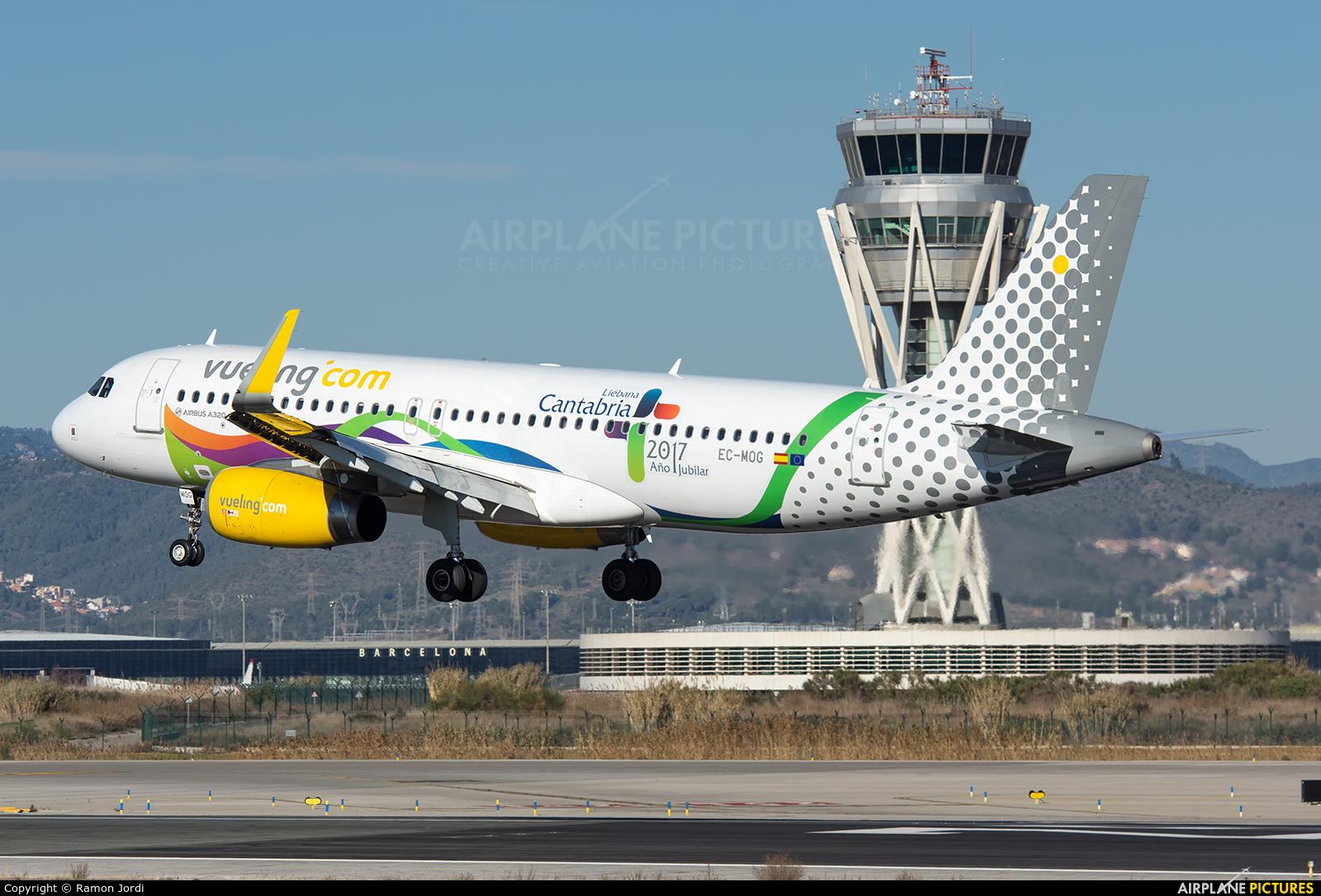 Vueling Airlines EC-MOG aircraft at Barcelona - El Prat