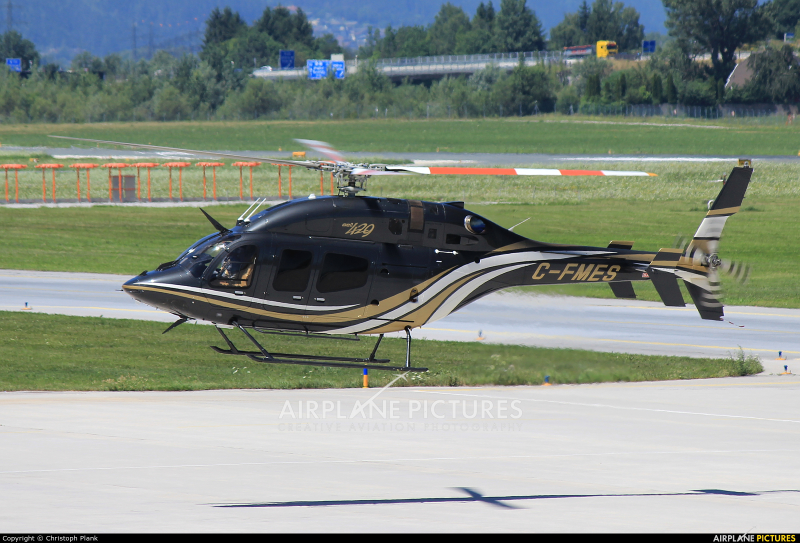 National Helicopters C-FMES aircraft at Innsbruck