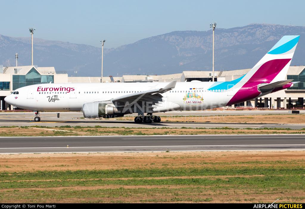 Eurowings D-AXGF aircraft at Palma de Mallorca