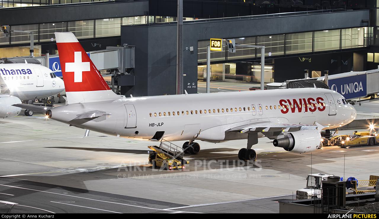 Swiss HB-JLP aircraft at Vienna - Schwechat