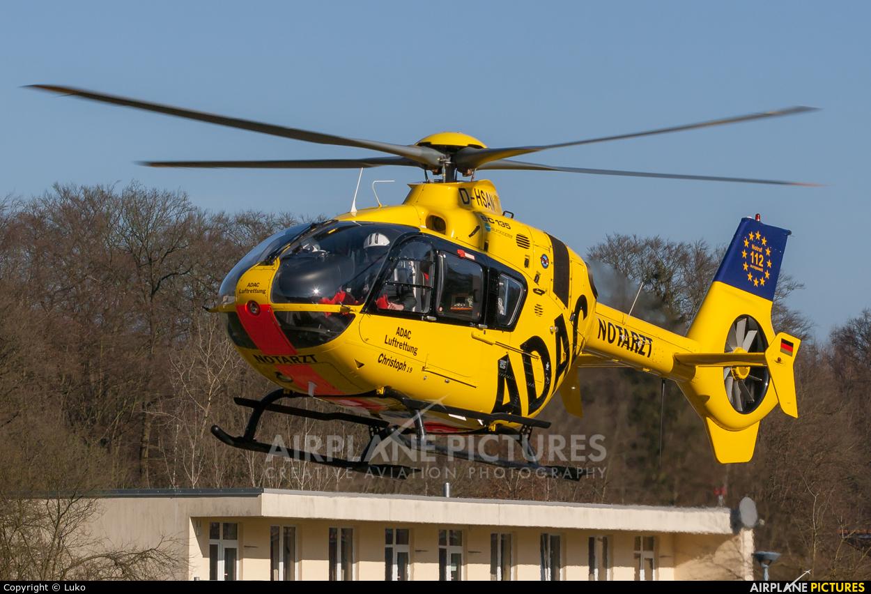 ADAC Luftrettung D-HSAN aircraft at Uelzen