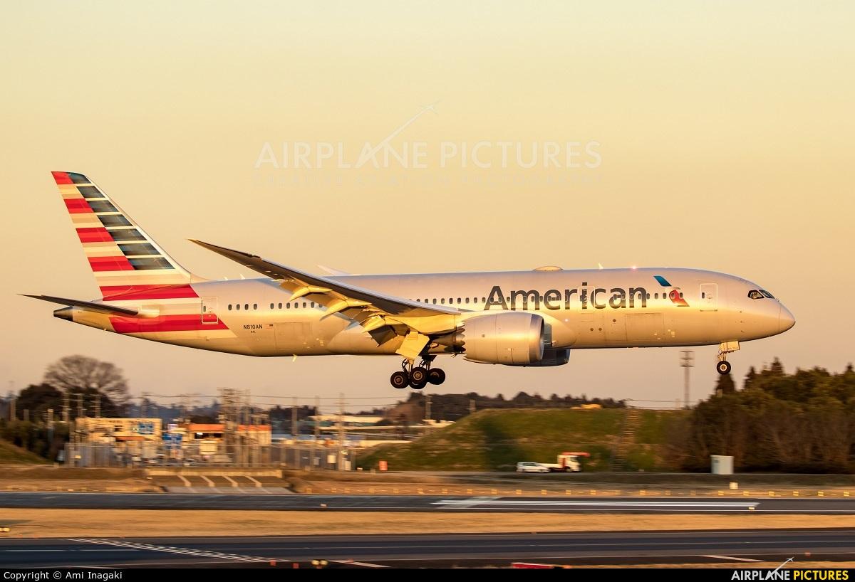 American Airlines N810AN aircraft at Tokyo - Narita Intl