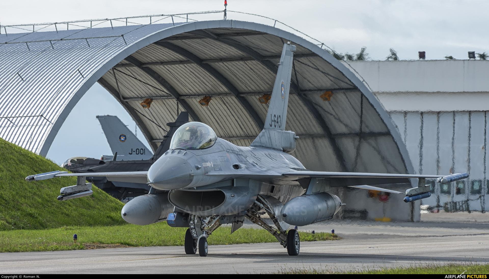 Netherlands - Air Force J-643 aircraft at Landivisiau