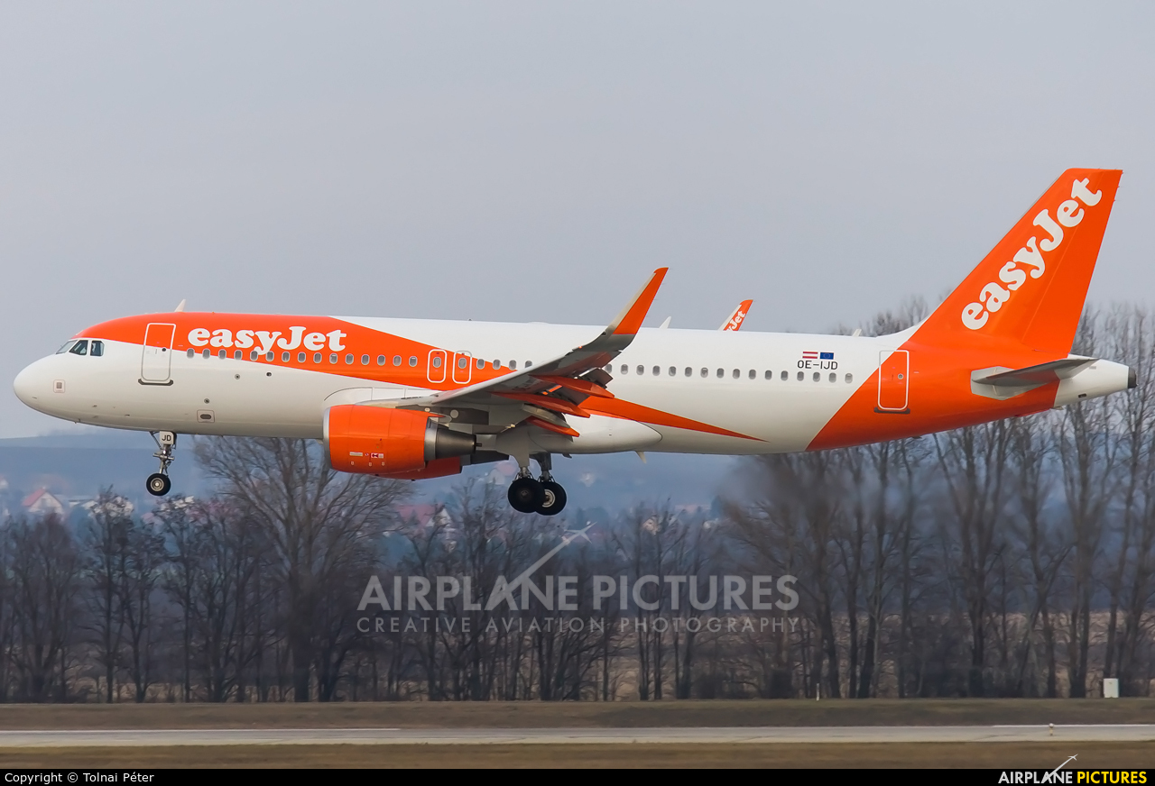easyJet Europe OE-IJD aircraft at Budapest Ferenc Liszt International Airport