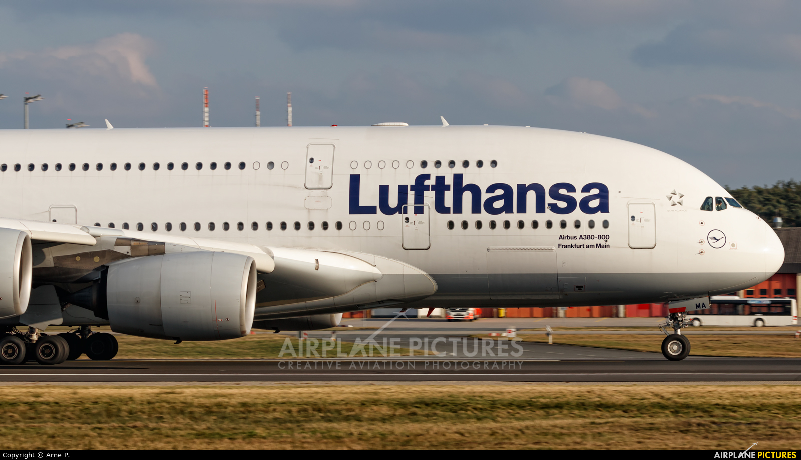 Lufthansa D-AIMA aircraft at Frankfurt