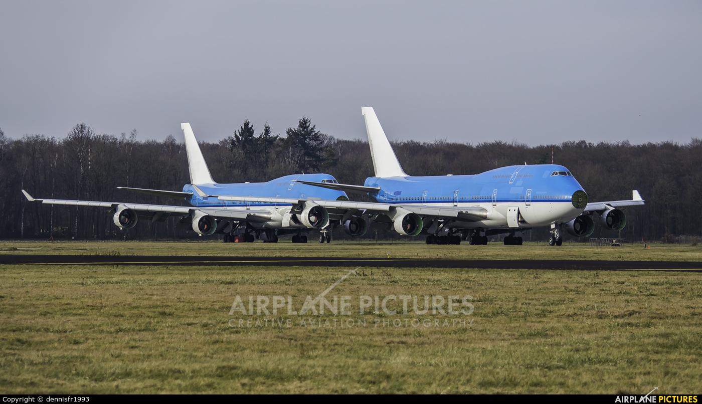 KLM - aircraft at Enschede Airport Twente