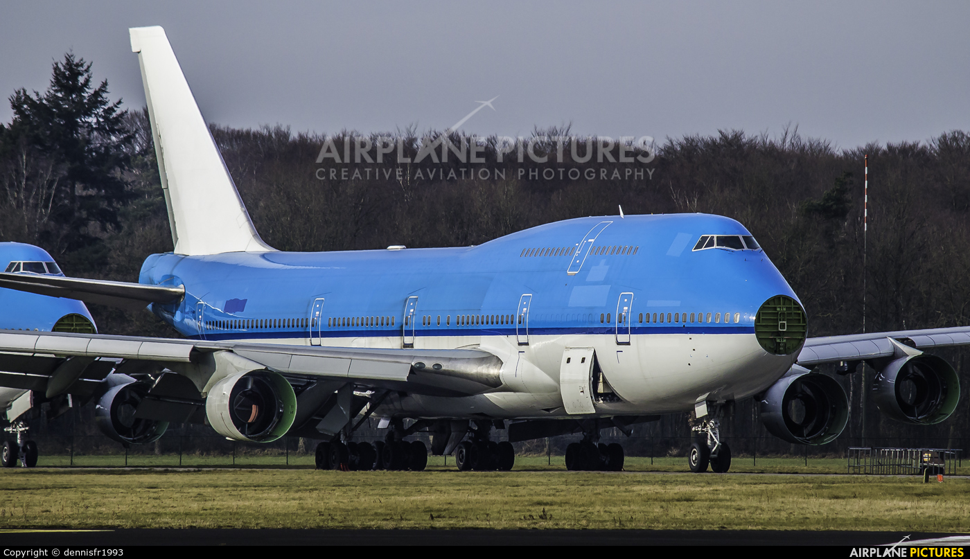 KLM - aircraft at Enschede Airport Twente