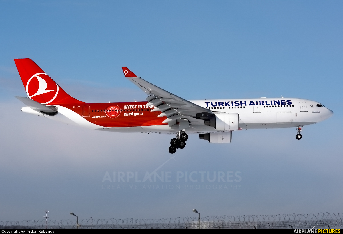 Turkish Airlines TC-JIZ aircraft at Moscow - Vnukovo