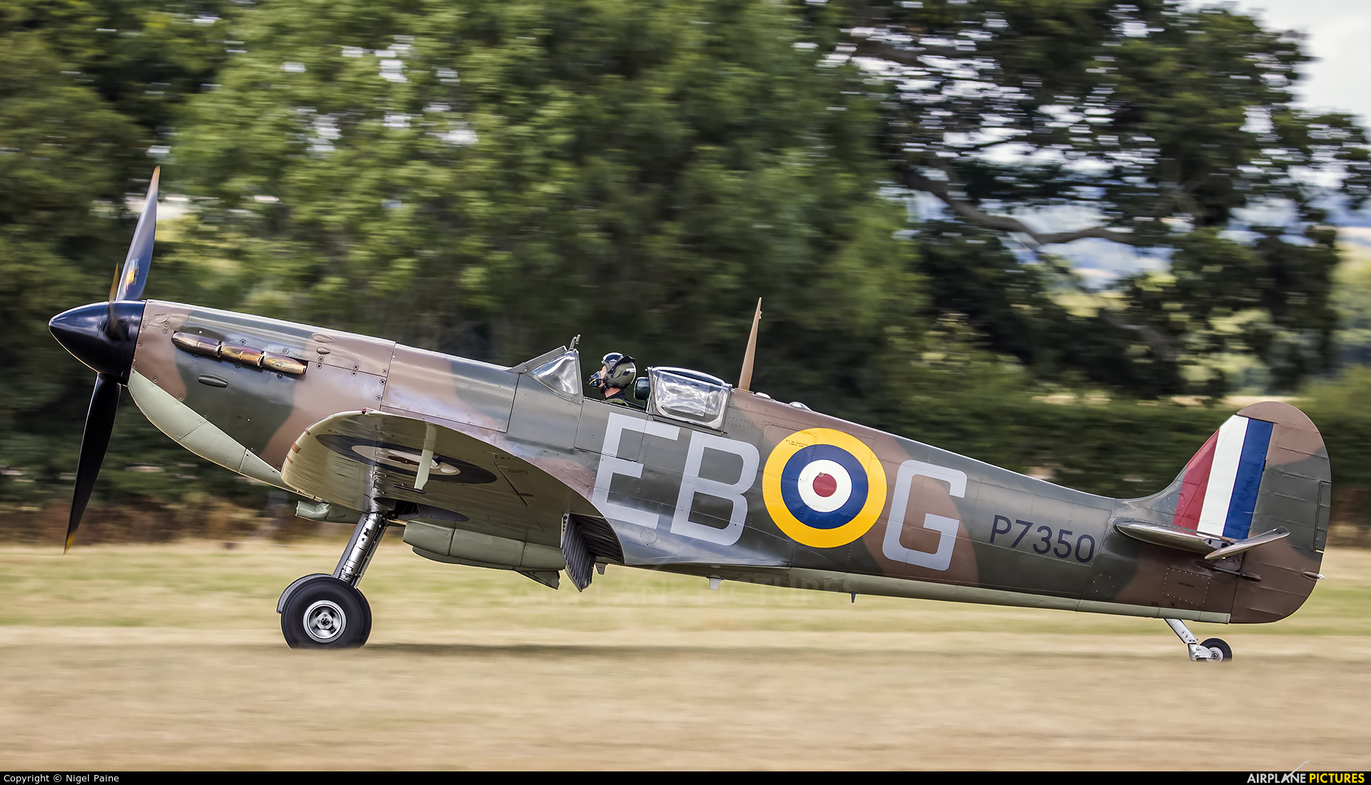 "Royal Air Force ""Battle of Britain Memorial Flight&quot P7350 aircraft at Lashenden / Headcorn"