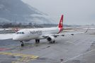Rare visit of Helvetic E190 to Sion