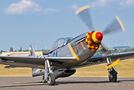 Private North American P-51D Mustang F-AZSB at Duxford airport