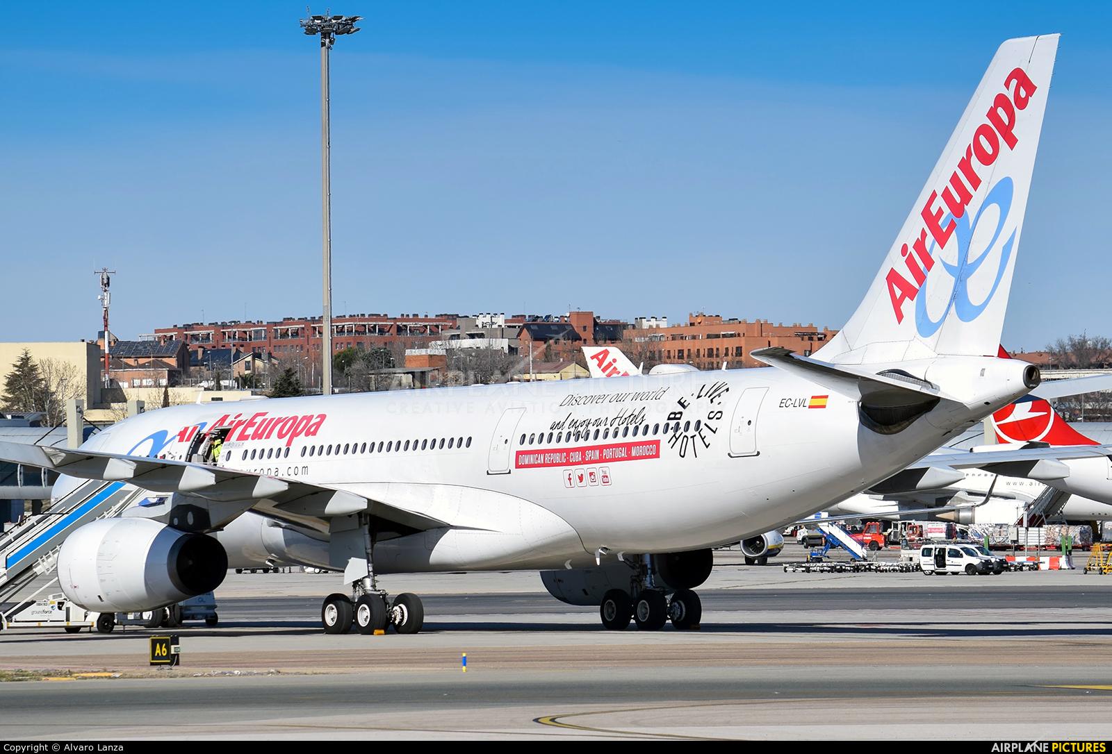 Air Europa EC-LVL aircraft at Madrid - Barajas