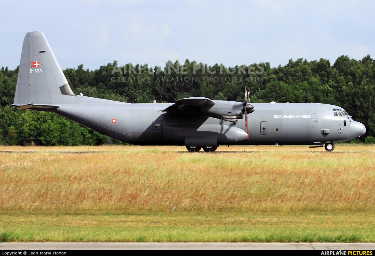 Denmark - Air Force B-538 aircraft at Maastricht - Aachen