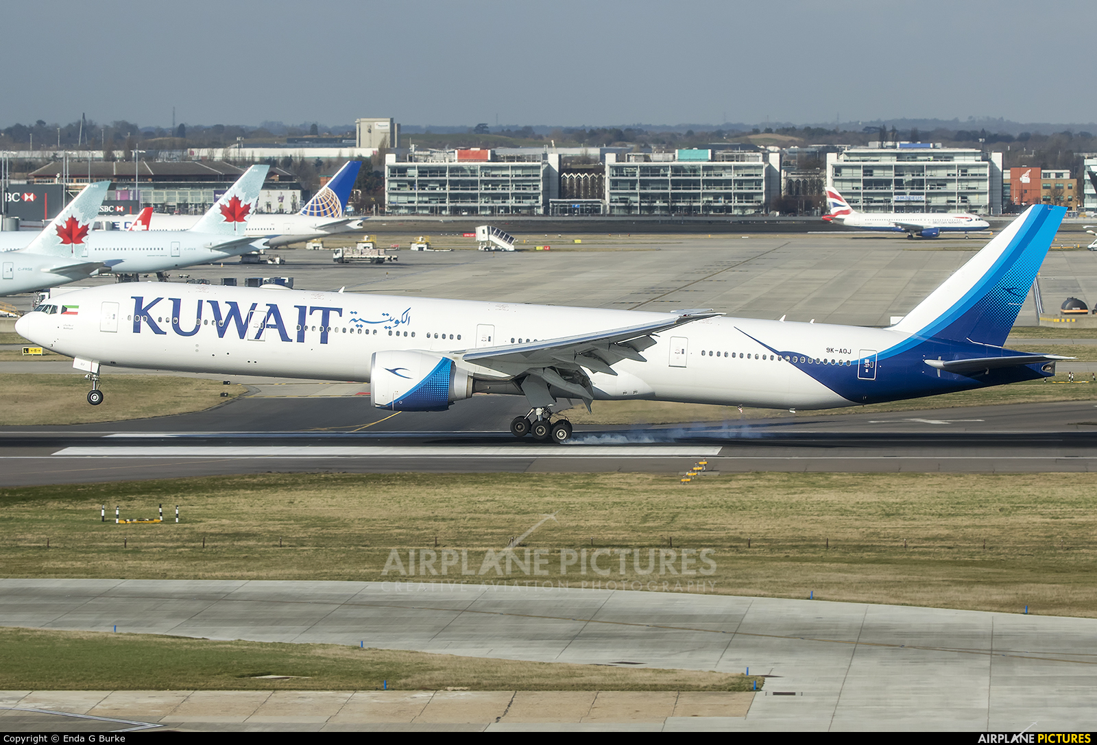 Kuwait Airways 9K-AOJ aircraft at London - Heathrow