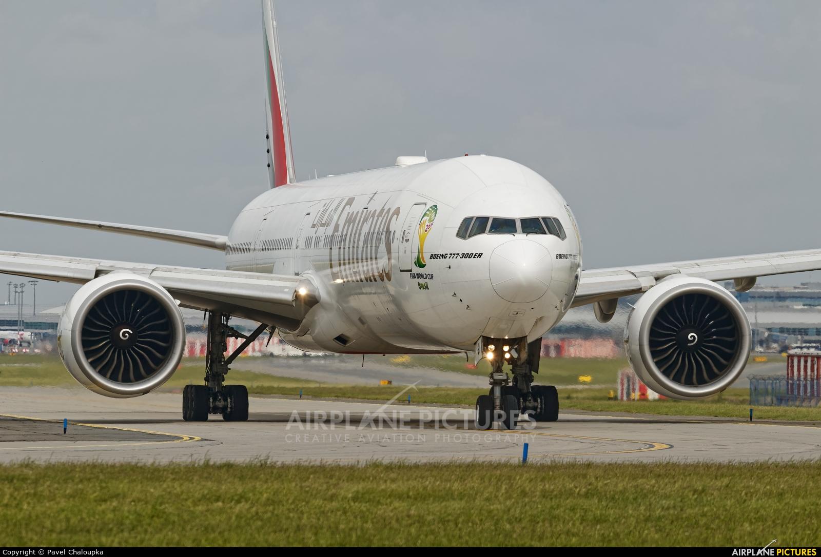 Emirates Airlines A6-EBI aircraft at Prague - Václav Havel