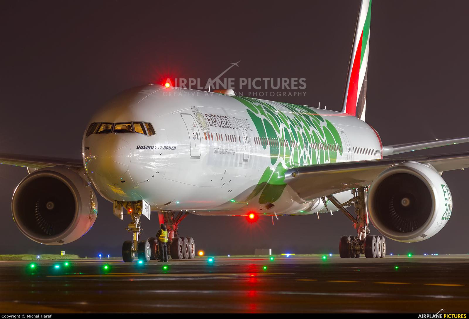Emirates Airlines A6-EPU aircraft at Dublin