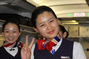 - - China Eastern Airlines - Aviation Glamour - Flight Attendant aircraft