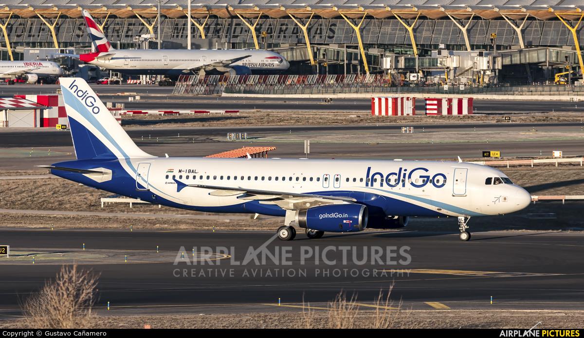 IndiGo M-IBAL aircraft at Madrid - Barajas