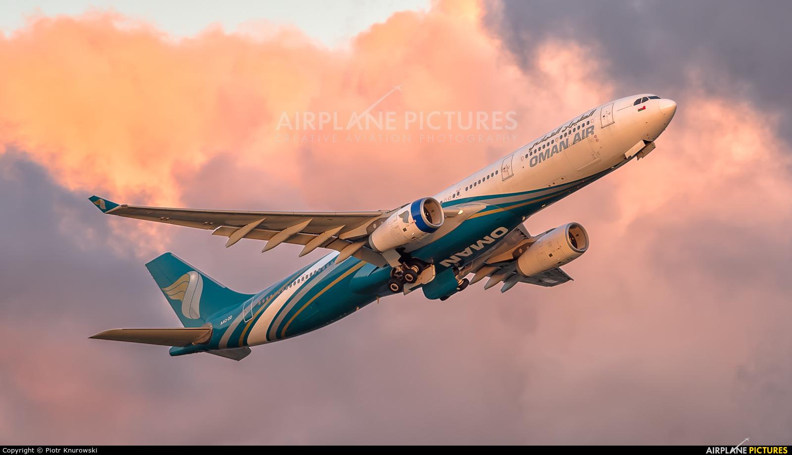 Oman Air A4O-DD aircraft at London - Heathrow