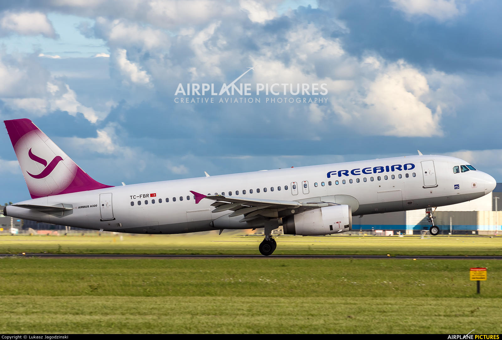 FreeBird Airlines TC-FBR aircraft at Amsterdam - Schiphol
