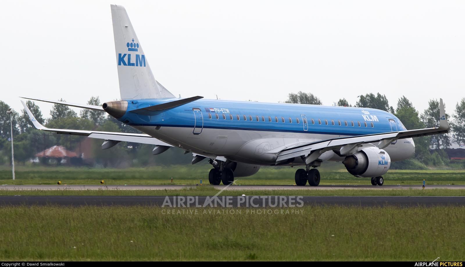 KLM Cityhopper PH-EZW aircraft at Amsterdam - Schiphol