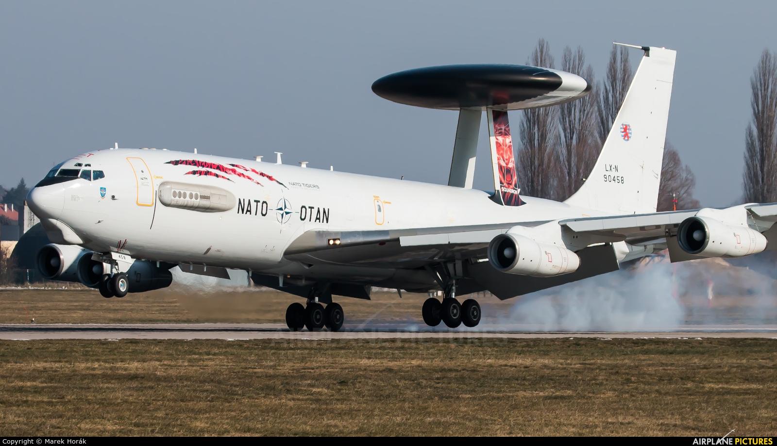 NATO LX-N90458 aircraft at Pardubice