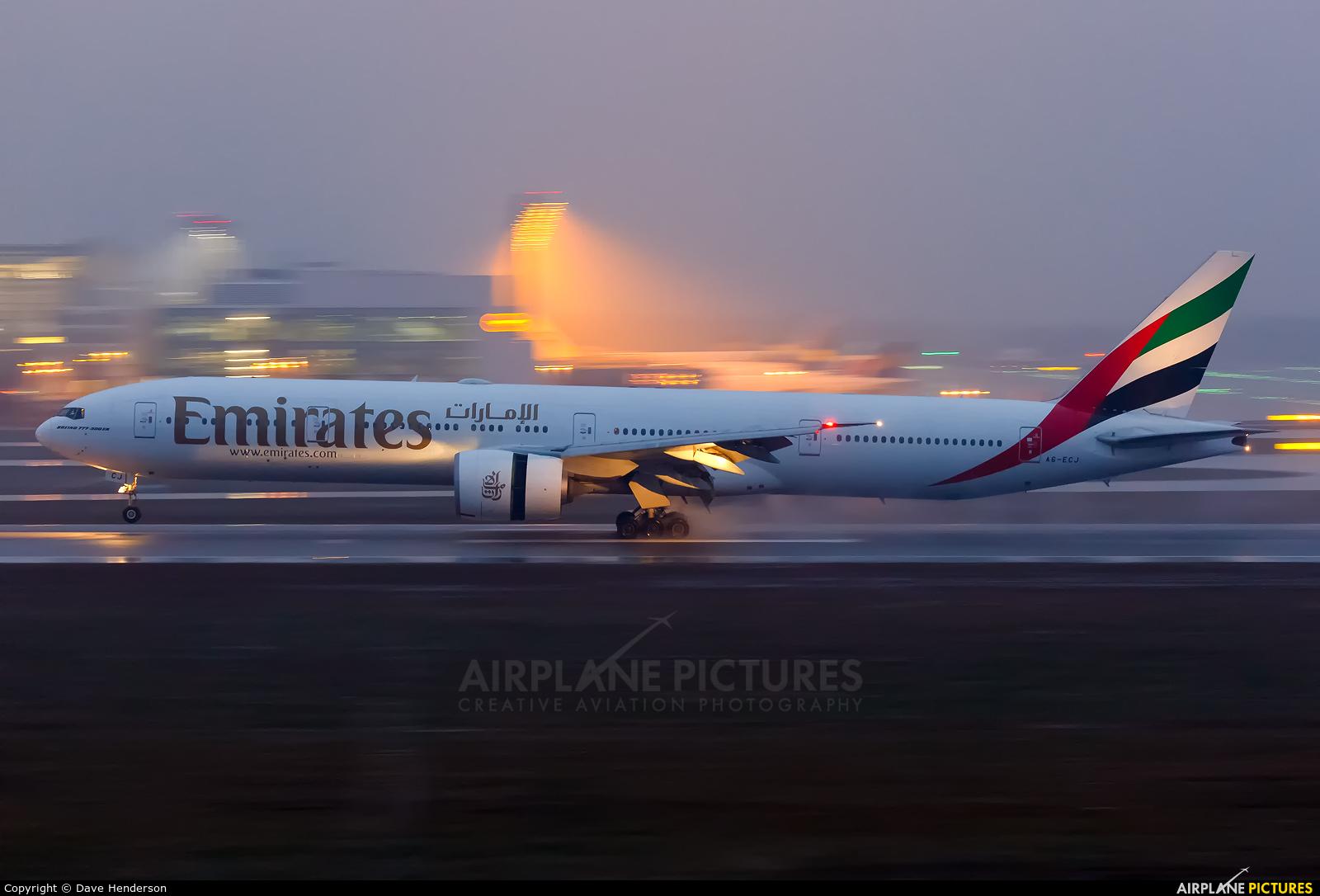 Emirates Airlines A6-ECJ aircraft at Munich
