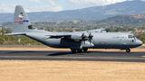 Rare visit of USAF Lockheed C-130 to San Jose