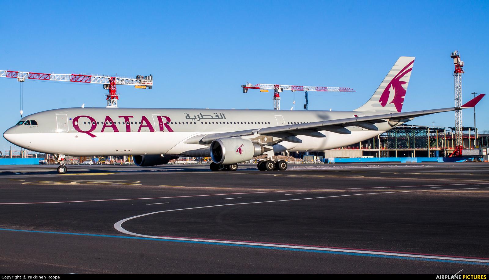 Qatar Airways A7-AEG aircraft at Helsinki - Vantaa