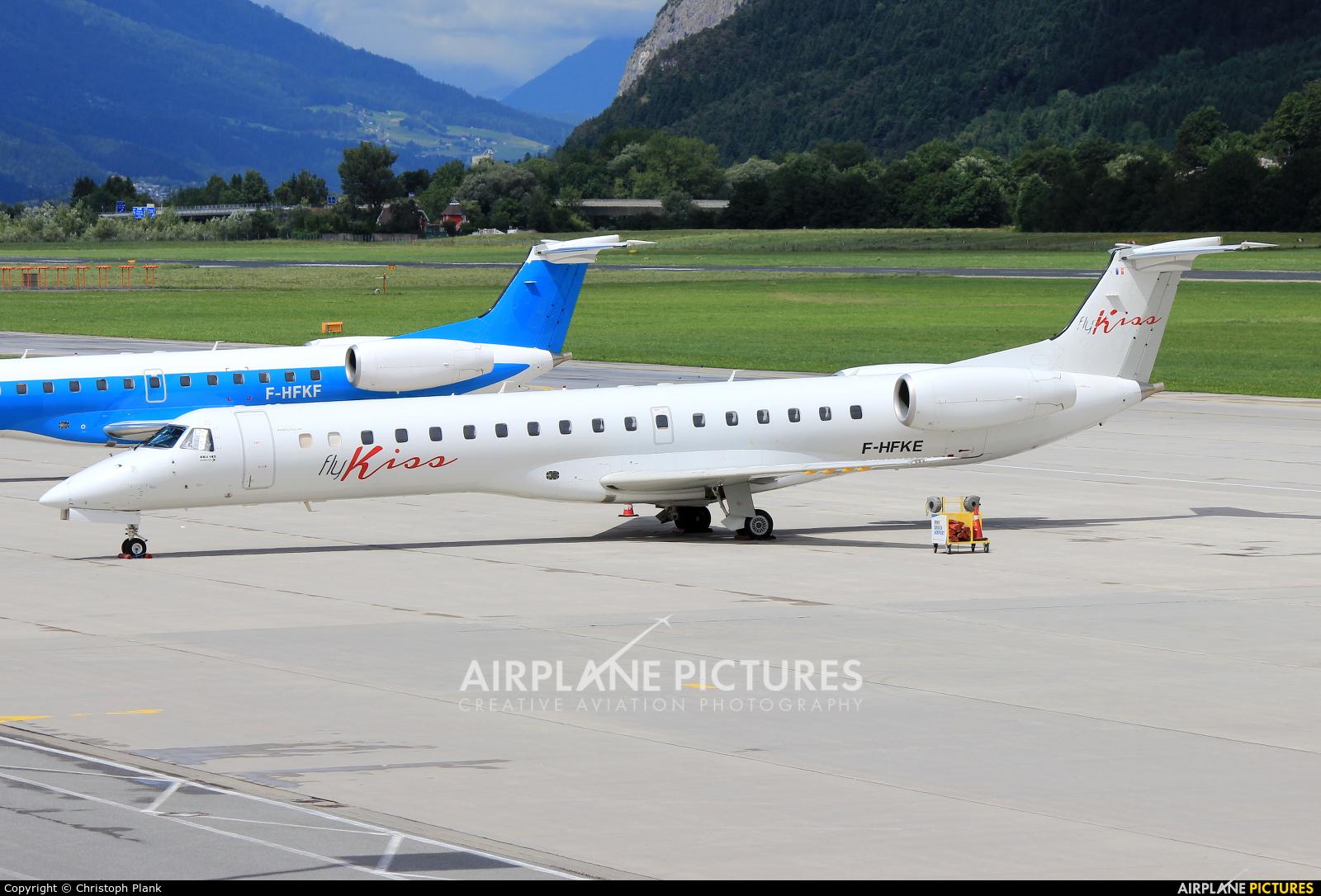 Fly Kiss F-HFKE aircraft at Innsbruck