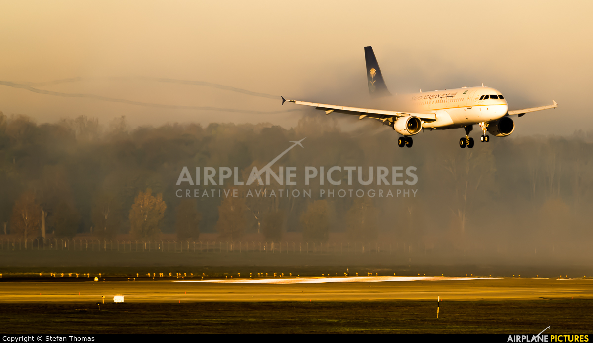 Saudi Arabian Airlines HZ-ASB aircraft at Munich