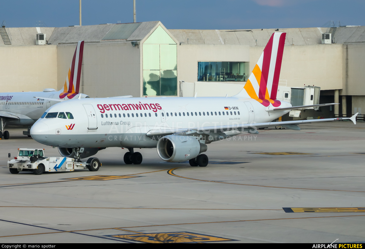 Germanwings D-AKNI aircraft at Palma de Mallorca