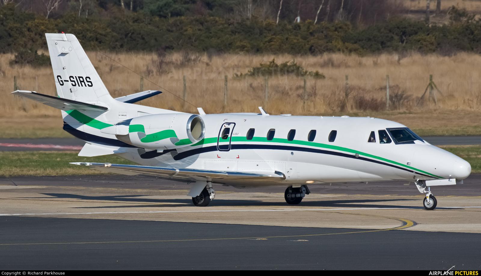 London Executive Aviation G-SIRS aircraft at Farnborough