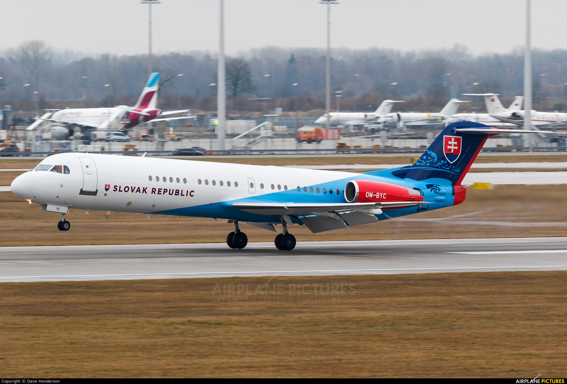Slovakia - Government OM-BYC aircraft at Munich